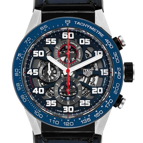 Photo of Tag Heuer Carrera Red Bull Racing Steel PVD Mens Watch CAR2A1N Box Card