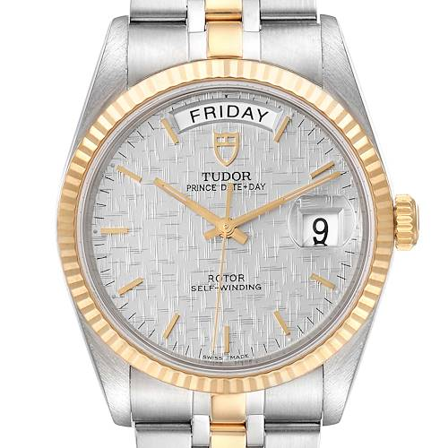Photo of Tudor Day Date Steel Yellow Gold Silver Dial Mens Watch 76213 Unworn