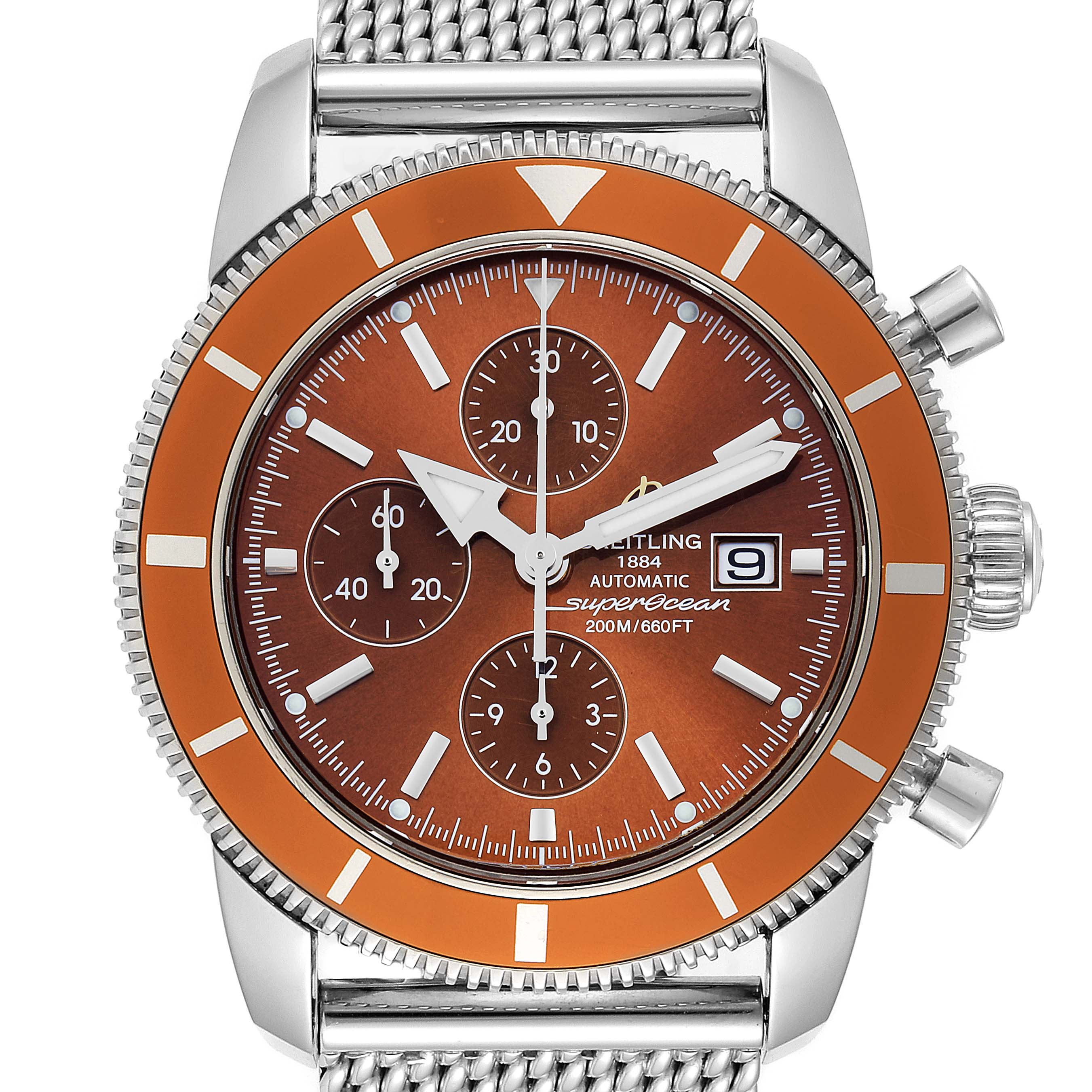 Breitling SuperOcean Heritage 46 Bronze Dial Mens Watch A13320 Box Papers SwissWatchExpo