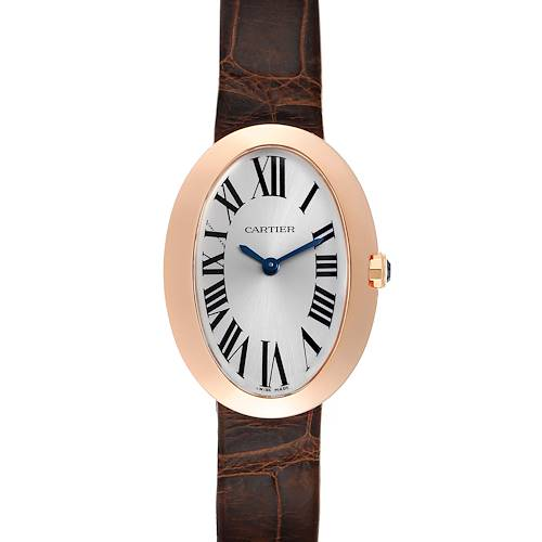 Photo of Cartier Baignoire Silver Dial Rose Gold Ladies Watch W8000007