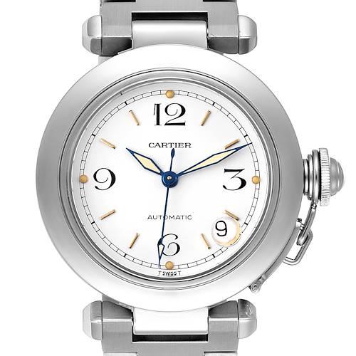 Photo of Cartier Pasha C Midsize White Dial Steel Unisex Watch W31015M7