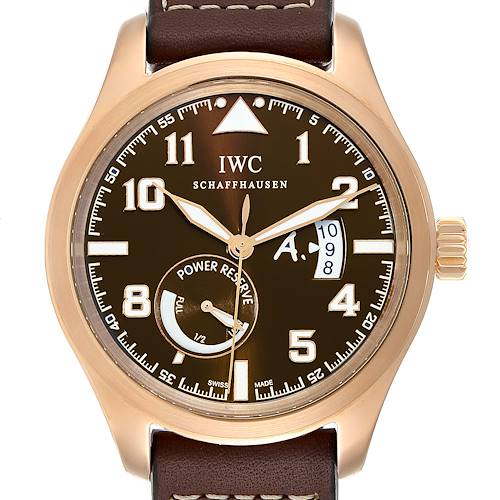 Photo of IWC Pilot Saint Exupery Rose Gold Limited Edition Watch IW320103 Card