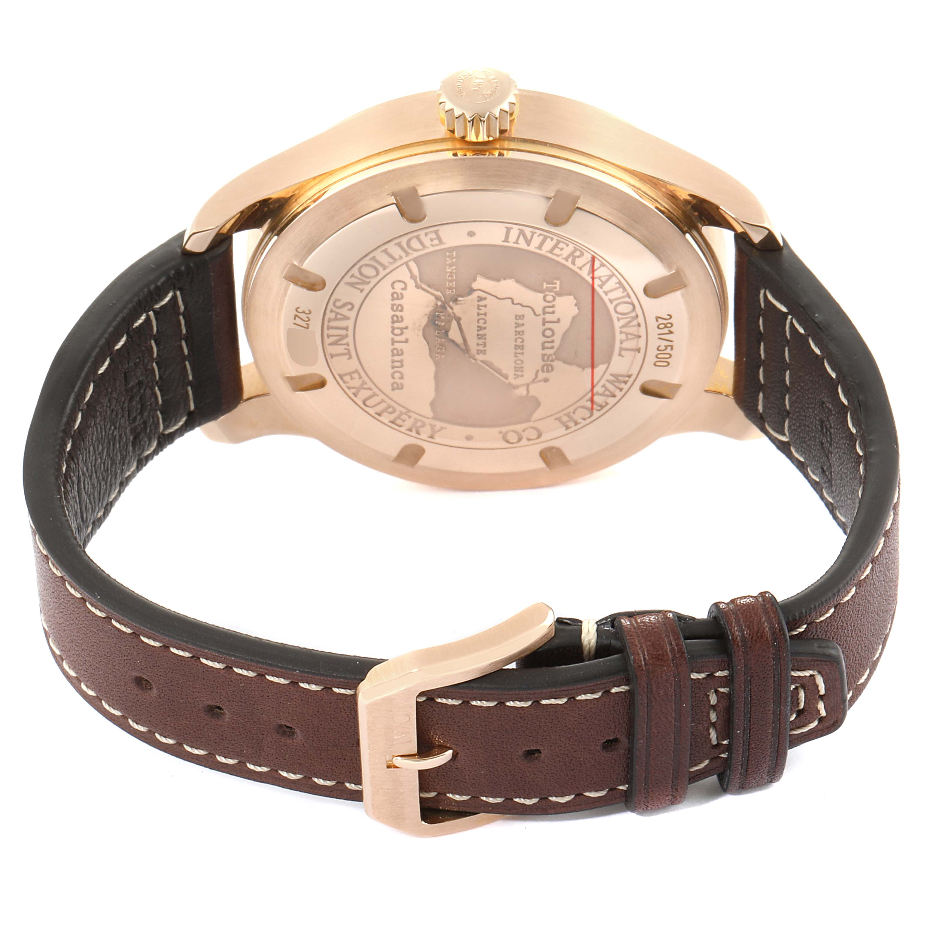 IWC Pilot Saint Exupery Rose Gold Limited Edition Watch IW320103 Card SwissWatchExpo