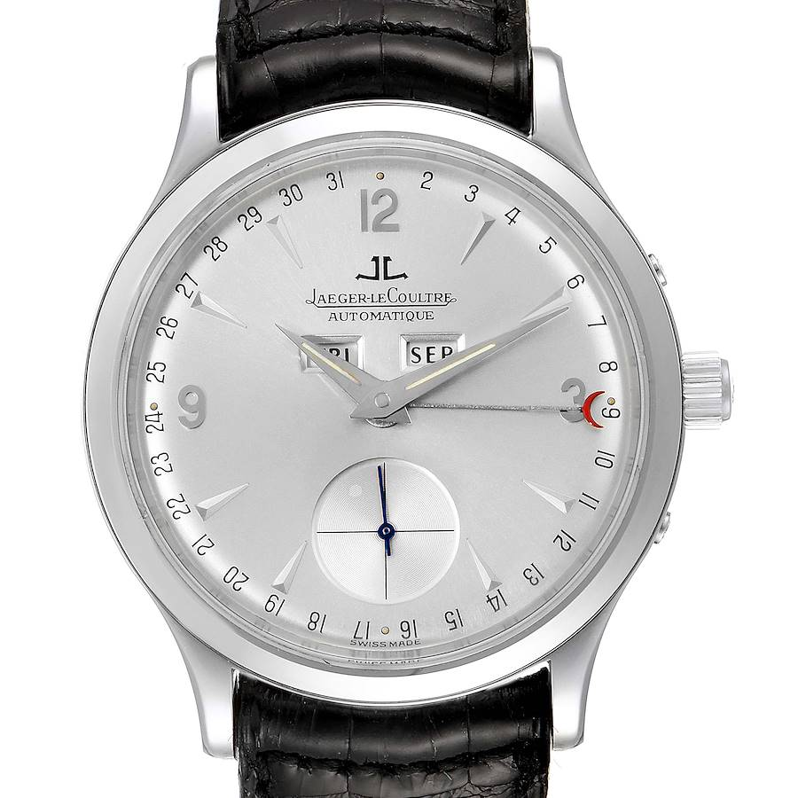 Jaeger Lecoultre Master Tripple Date Calendar Mens Watch 140.8.87 Q147812A SwissWatchExpo