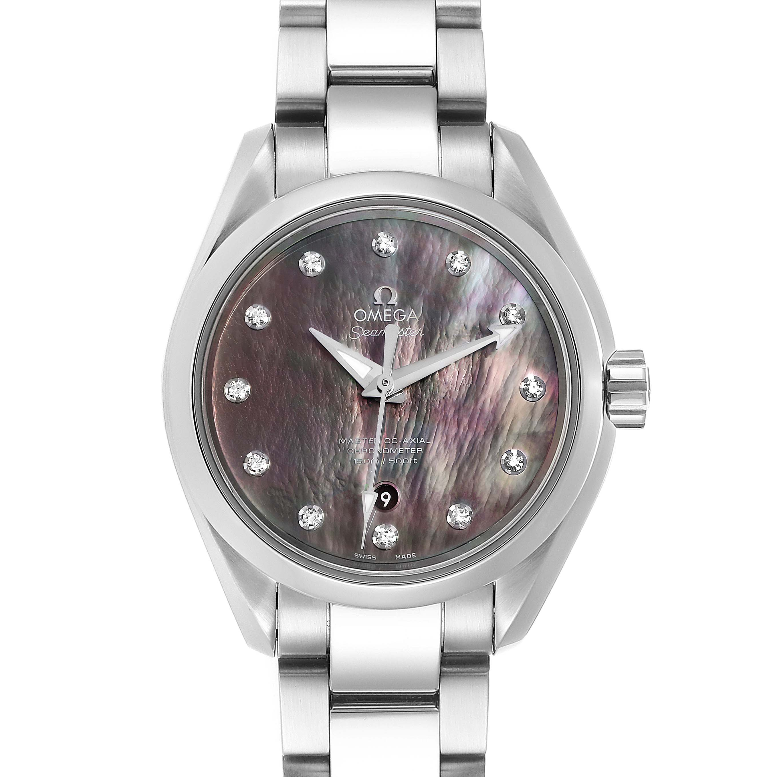 Photo of Omega Aqua Terra 34 Diamond Ladies Watch 231.10.34.20.57.001 Box Card