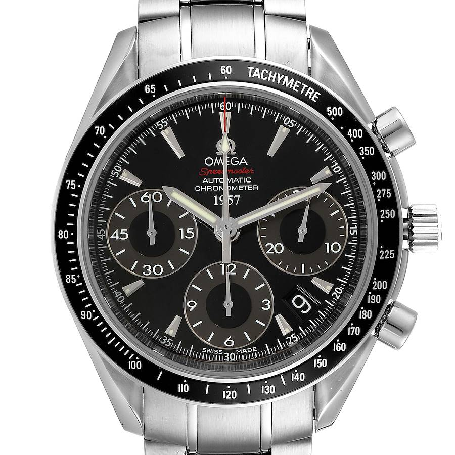 Omega Speedmaster Day Date Black Dial LE Mens Watch 323.30.40.40.01.001 SwissWatchExpo