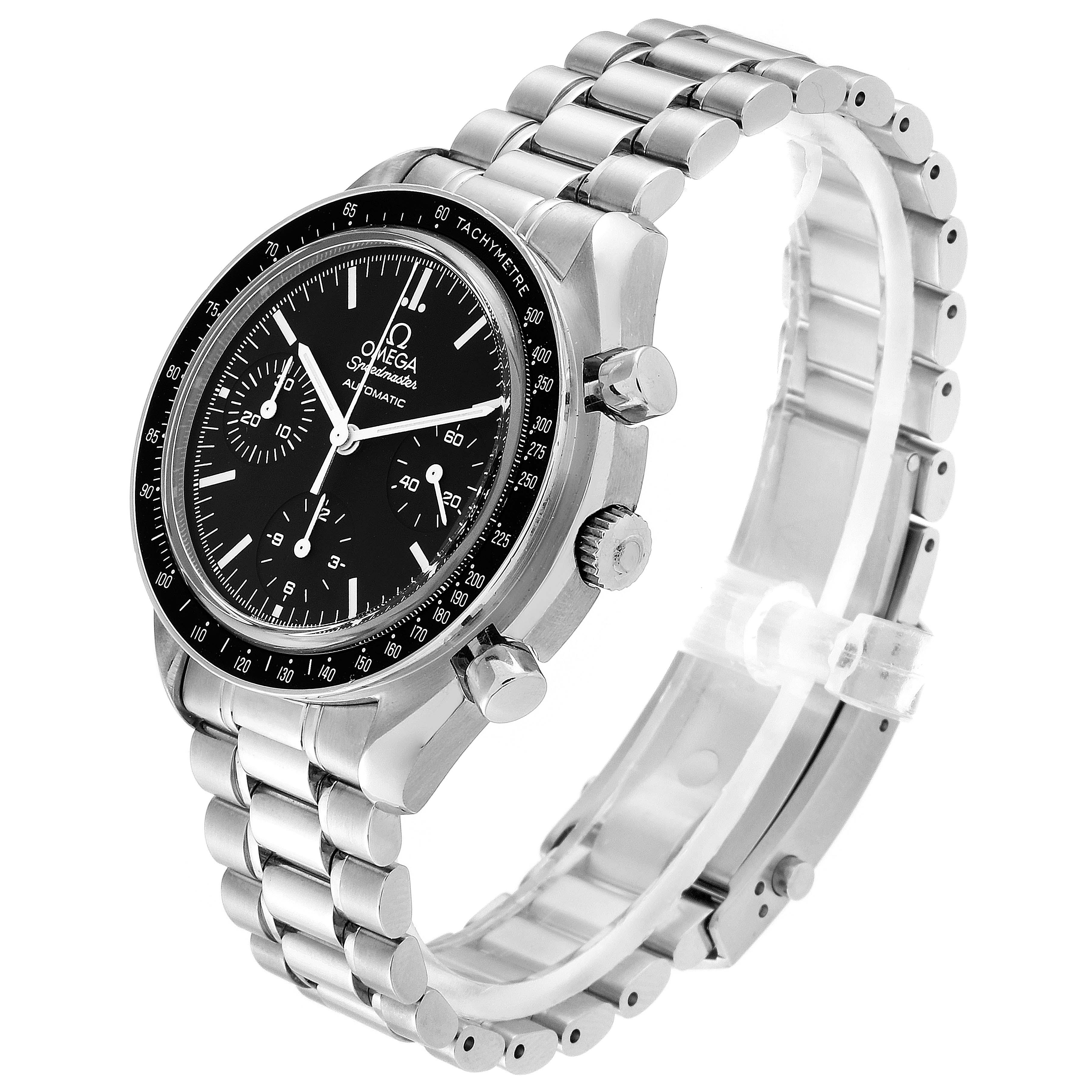 Omega Speedmaster Reduced Automatic Steel Watch 3539.50.00 Box Card SwissWatchExpo