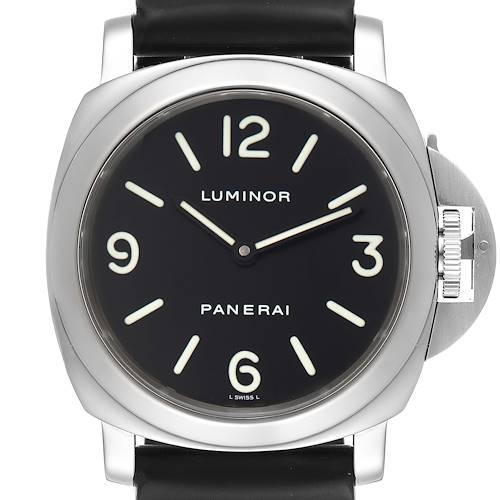 Photo of Panerai Luminor Base 44mm Black Dial Steel Mens Watch PAM00112 Box Papers