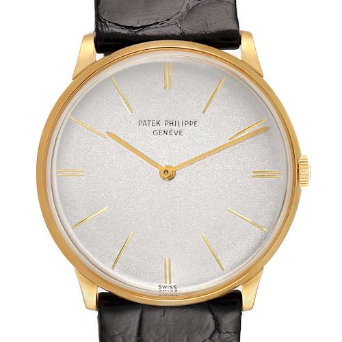 Photo of Patek Philippe Calatrava Yellow Gold Vintage Mens Watch 2573 Papers