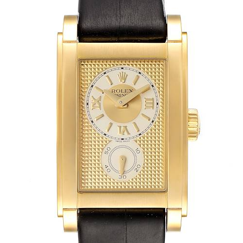 Photo of Rolex Cellini Prince Yellow Gold Champagne Dial Mens Watch 5440