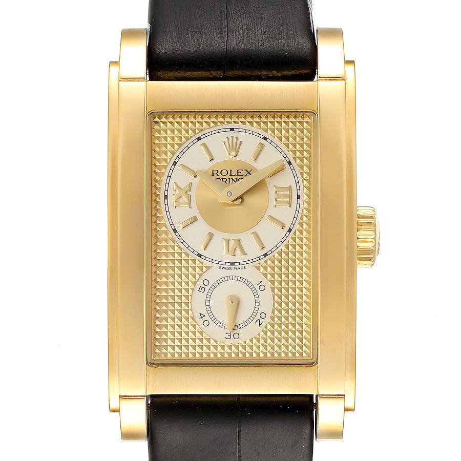 Rolex Cellini Prince Yellow Gold Champagne Dial Mens Watch 5440 SwissWatchExpo