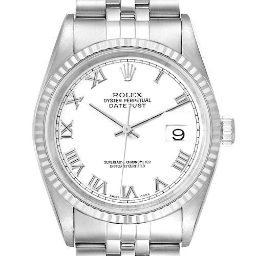 Photo of Rolex Datejust Steel White Gold White Dial Jubilee Bracelet Watch 16234