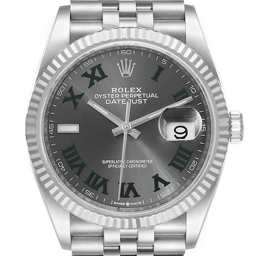 Photo of Rolex Datejust Steel White Gold Wimbledon Dial Mens Watch 126234 Unworn