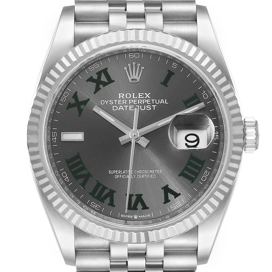 Rolex Datejust Steel White Gold Wimbledon Dial Mens Watch 126234 Unworn SwissWatchExpo