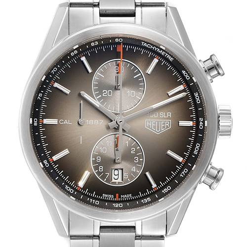 Photo of Tag Heuer Carrera Brown Dial Chronograph Steel Mens Watch CAR2112 Box Card