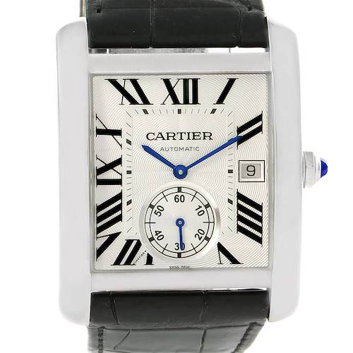 Photo of Cartier Tank MC Silver Dial Automatic Mens Watch W5330003