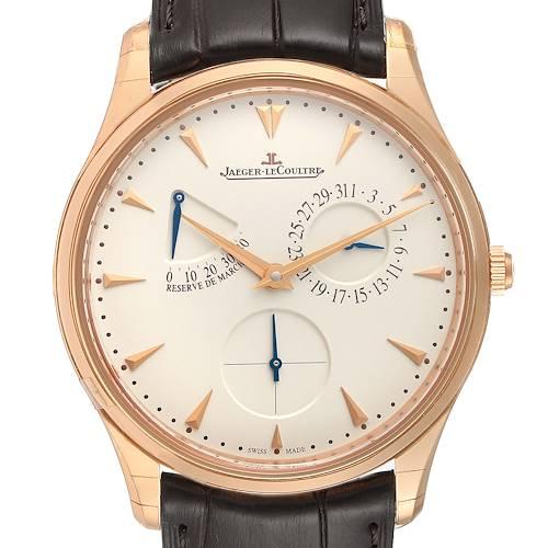Photo of Jaeger Lecoultre Reserve De Marche Rose Gold Watch 176.2.38.S Q1372520 Unworn
