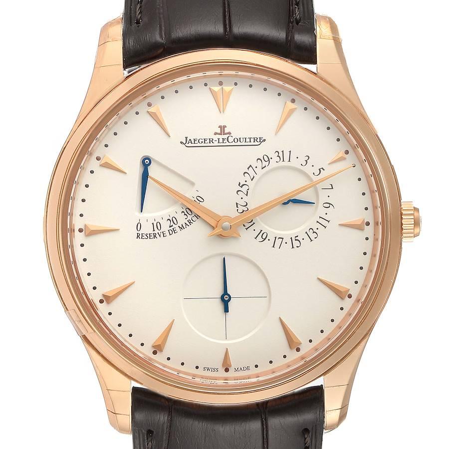 Jaeger Lecoultre Reserve De Marche Rose Gold Watch 176.2.38.S Q1372520 Unworn SwissWatchExpo