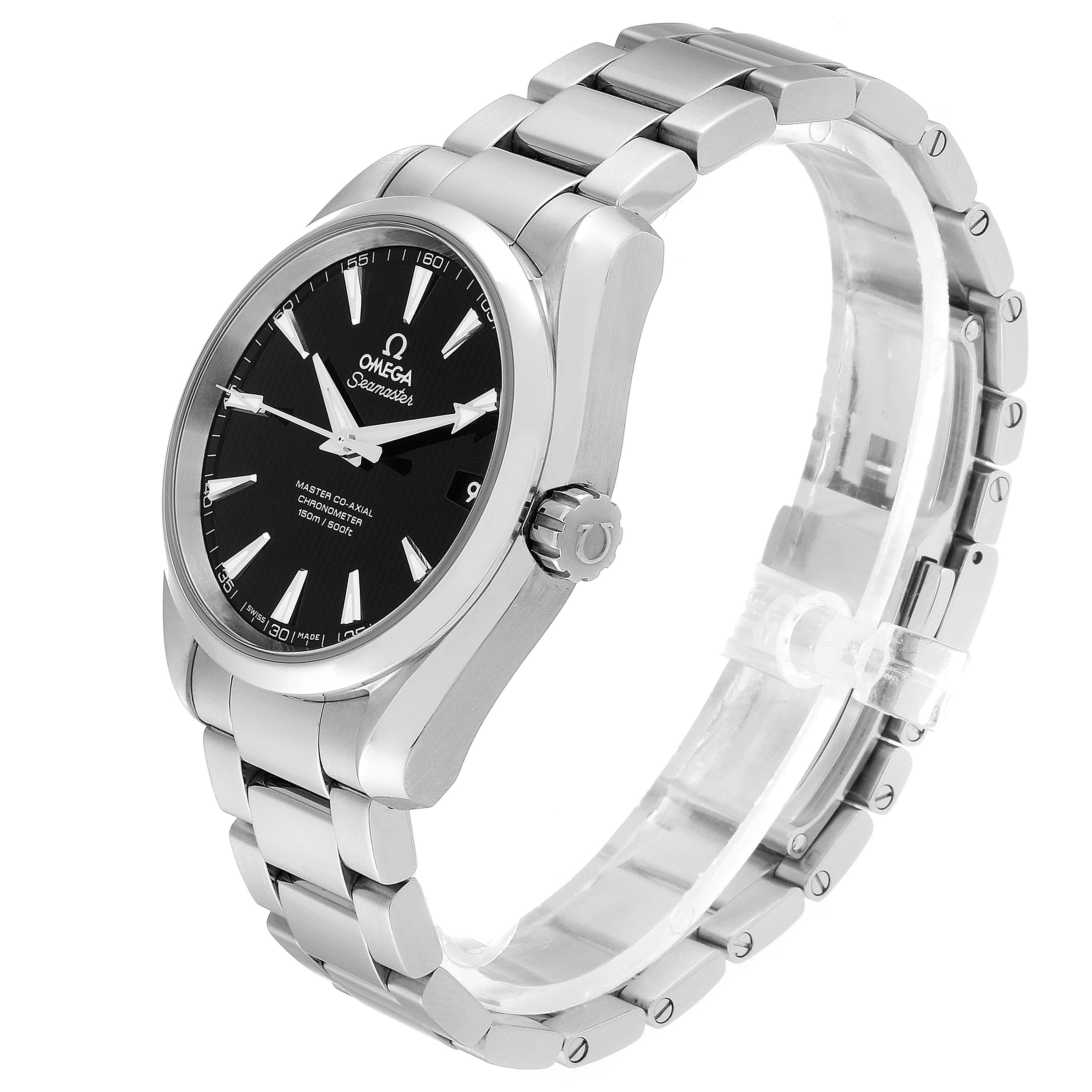 Omega Seamaster Aqua Terra Black Dial Watch 231.10.39.21.01.002 Box Card SwissWatchExpo