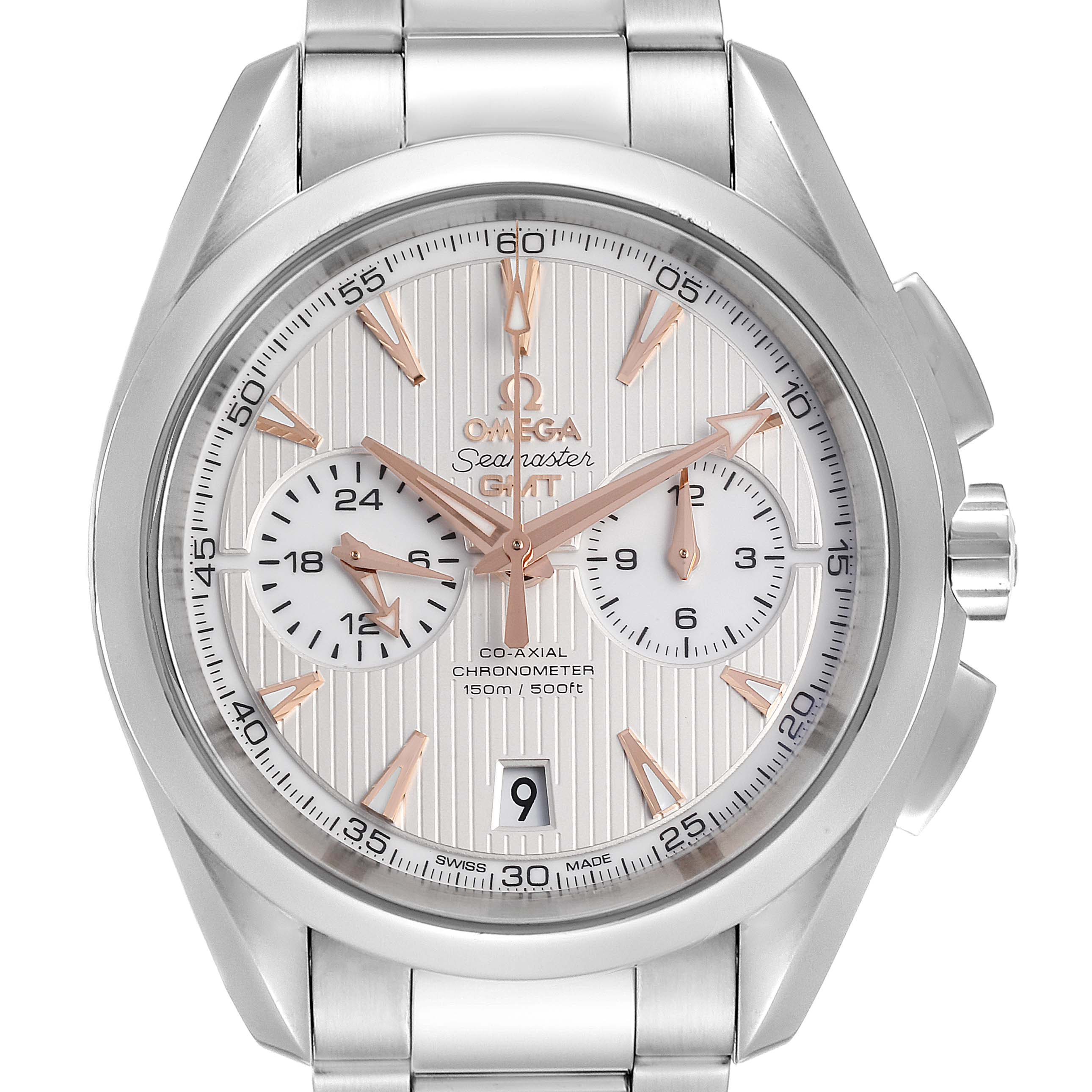 Photo of Omega Seamaster Aqua Terra GMT Chronograph Mens Watch 231.10.43.52.03.001 PARTIAL PAYMENT