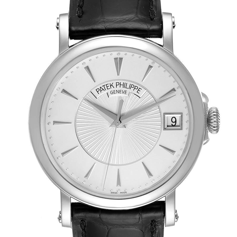 Patek Philippe Calatrava 18k White Gold Silver Dial Mens Watch 5153 Unworn SwissWatchExpo