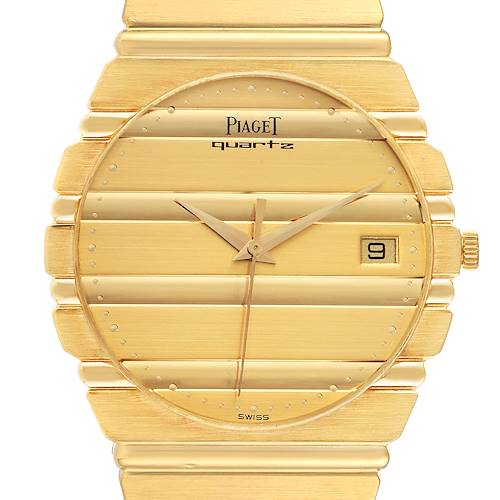 Photo of Piaget Polo 18K Yellow Gold Champagne Dial Mens Watch 15561