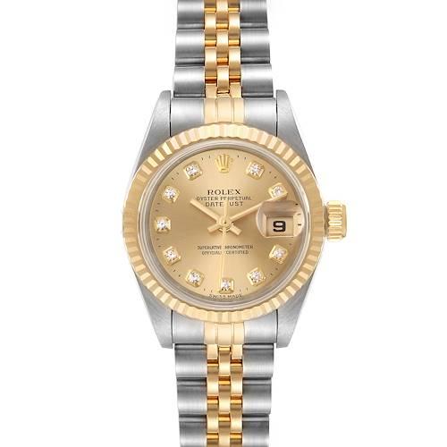 Photo of Rolex Datejust 26mm Steel Yellow Gold Diamond Ladies Watch 69173