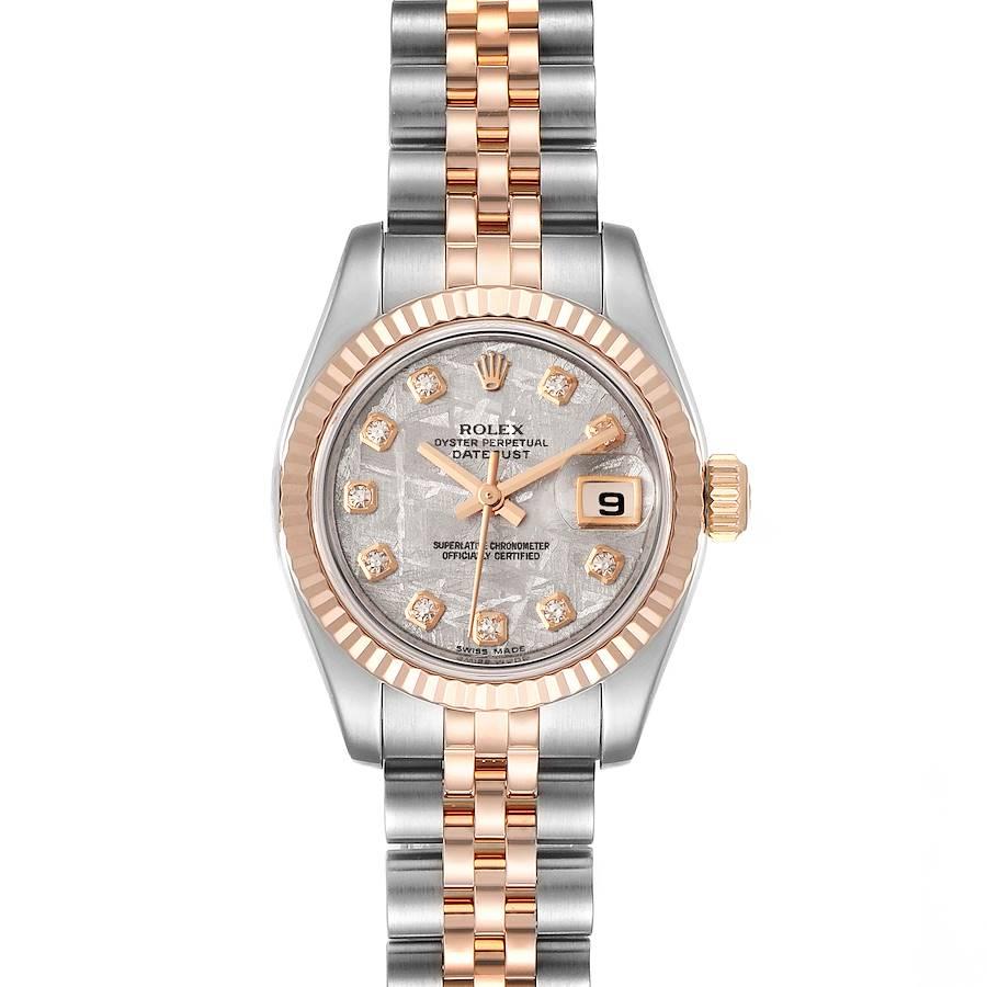 Rolex Datejust Steel EveRose Gold Meteorite Diamond Ladies Watch 179171 SwissWatchExpo