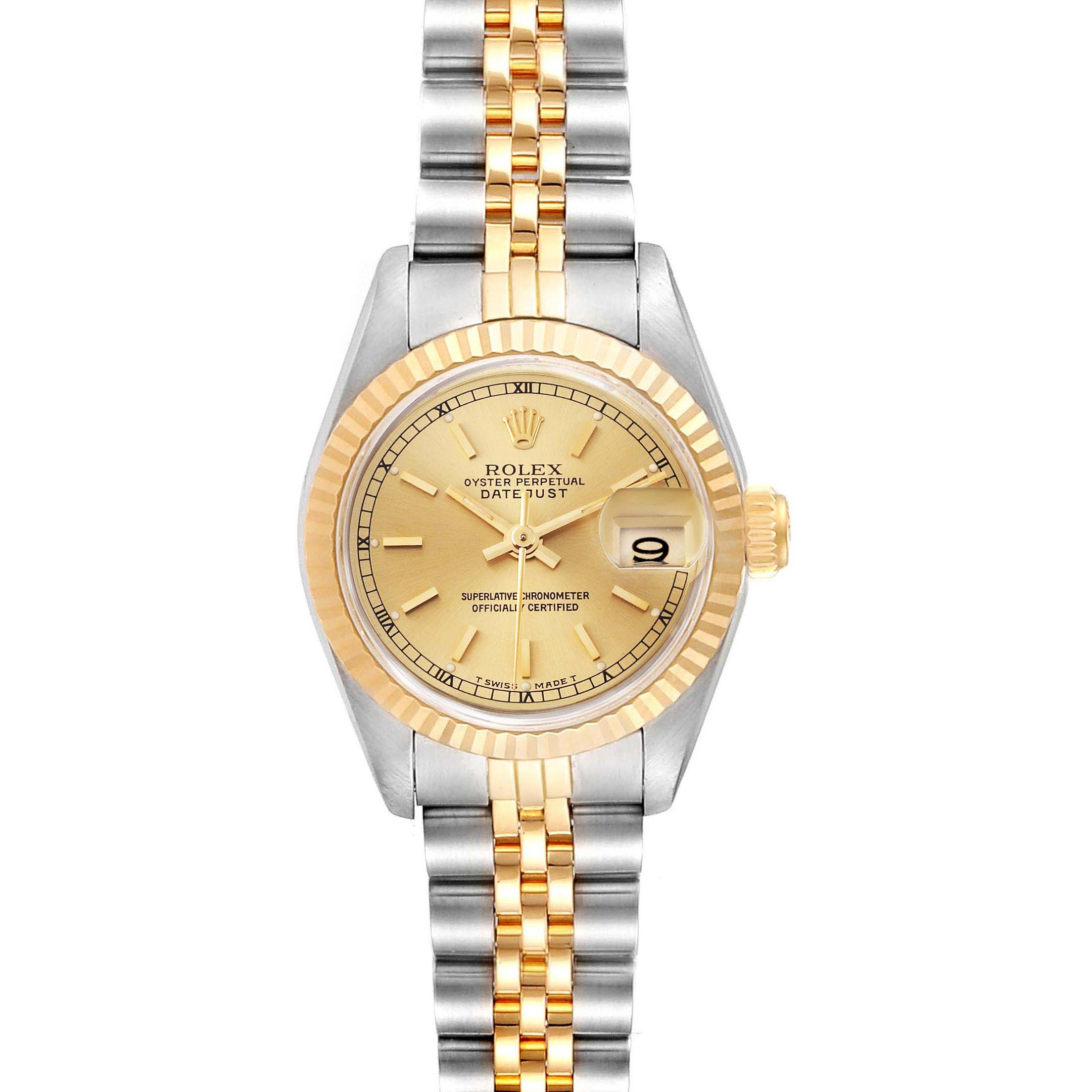 Photo of Rolex Datejust Steel Yellow Gold Automatic Ladies Watch 69173