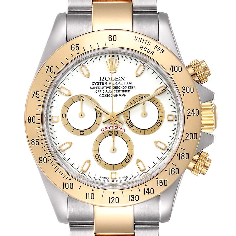 Rolex Daytona Steel Yellow Gold Steel Mens Watch 116523 Box Papers SwissWatchExpo