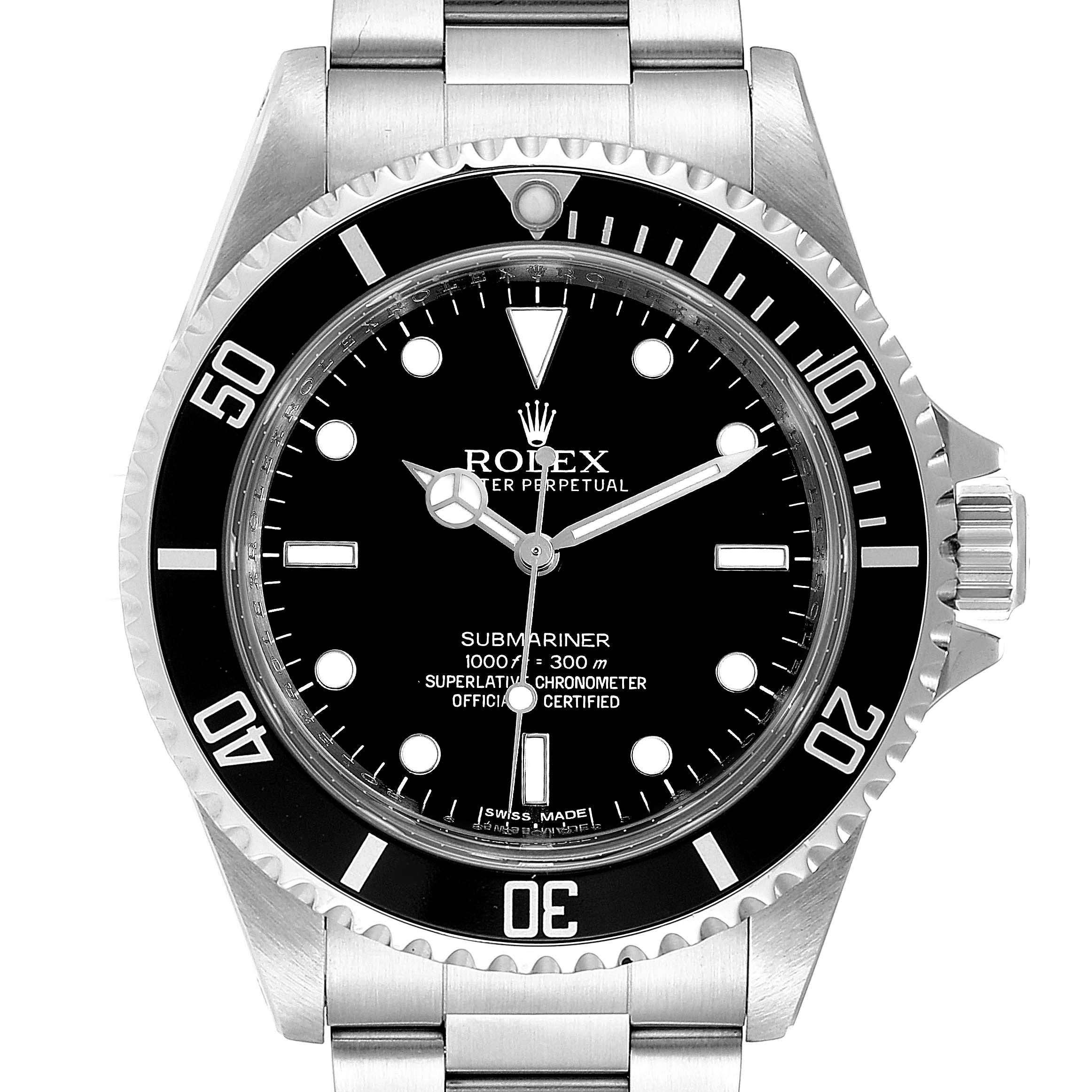 Photo of Rolex Submariner 40mm Non-Date 4 Liner Steel Steel Mens Watch 14060