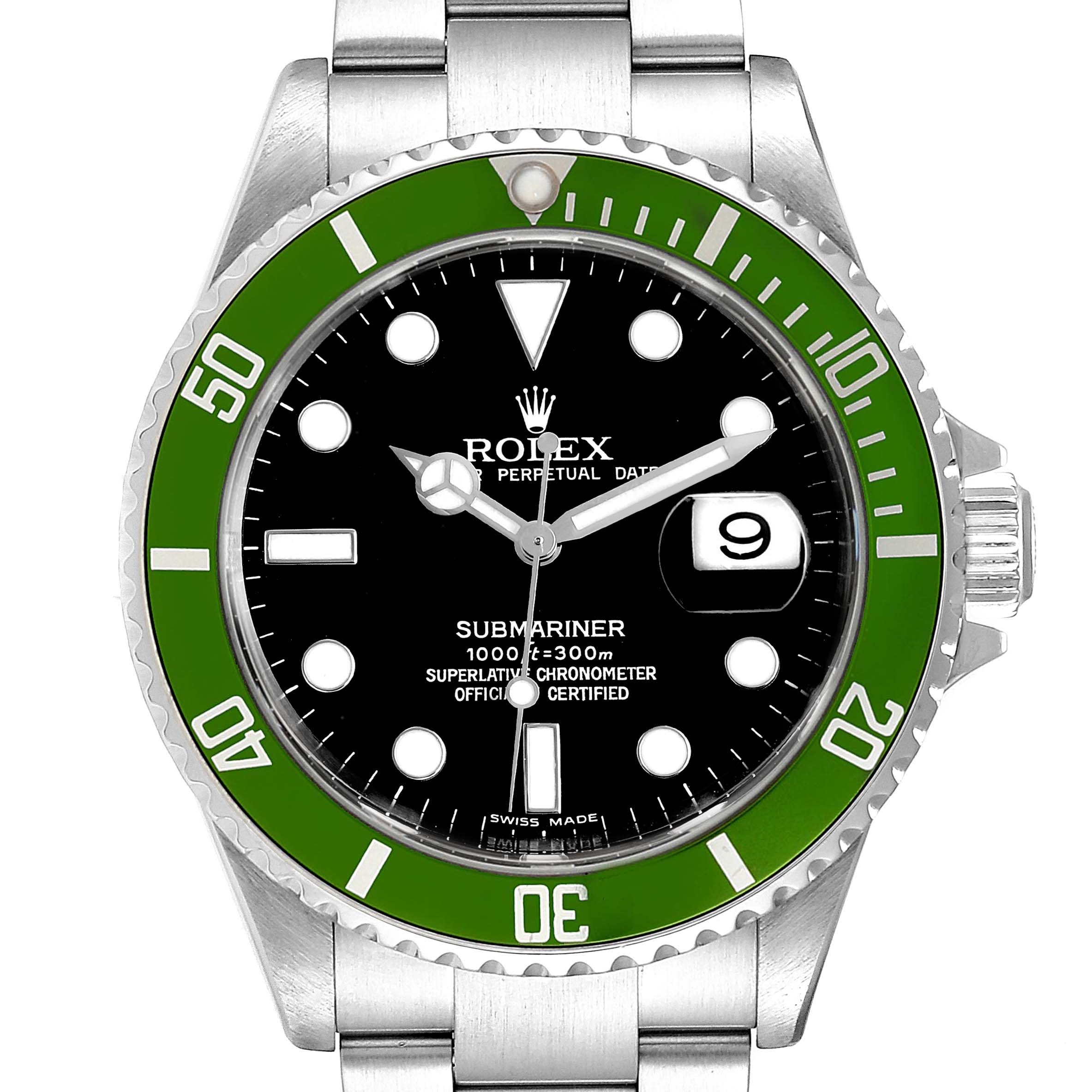 Photo of Rolex Submariner 50th Anniversary Green Kermit Mens Watch 16610LV