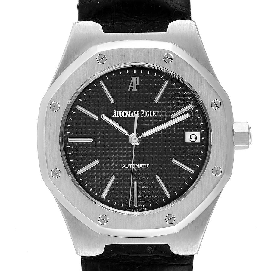 Audemars Piguet Royal Oak Black Dial Steel Mens Watch 14800ST Box Papers SwissWatchExpo