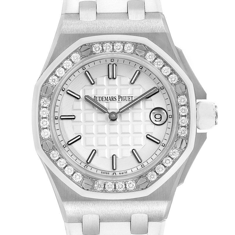 Audemars Piguet Royal Oak Offshore 37mm Diamond Ladies Watch 57175ST SwissWatchExpo