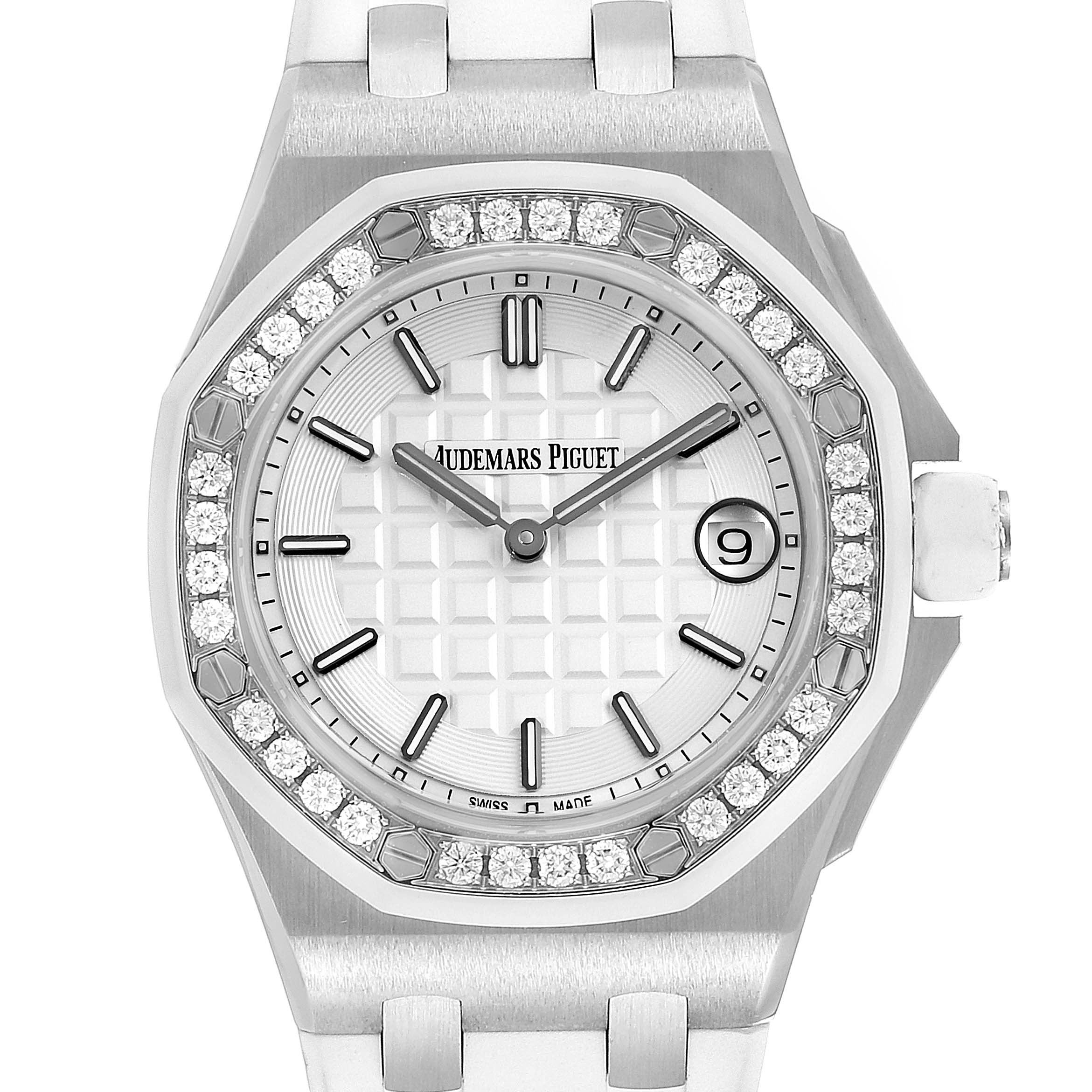 Photo of Audemars Piguet Royal Oak Offshore 37mm Diamond Ladies Watch 57175ST