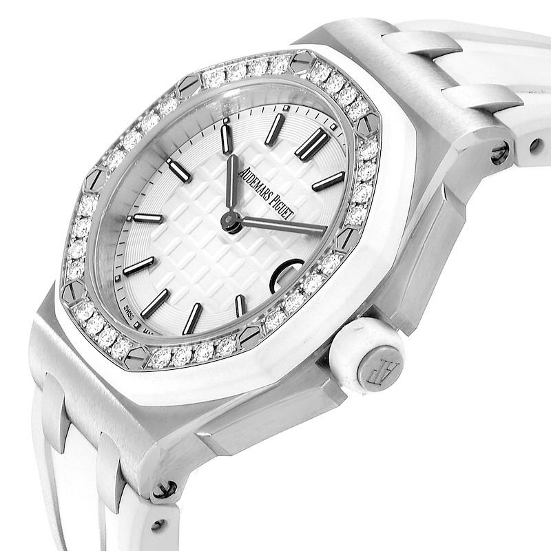 Audemars Piguet Royal Oak Offshore 37mm Diamond Ladies Watch 57175ST SwissWatchExpo