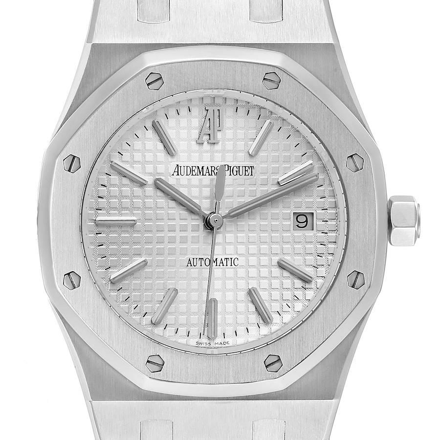 Audemars Piguet Royal Oak White Dial Steel Mens Watch 15300ST Box Card SwissWatchExpo