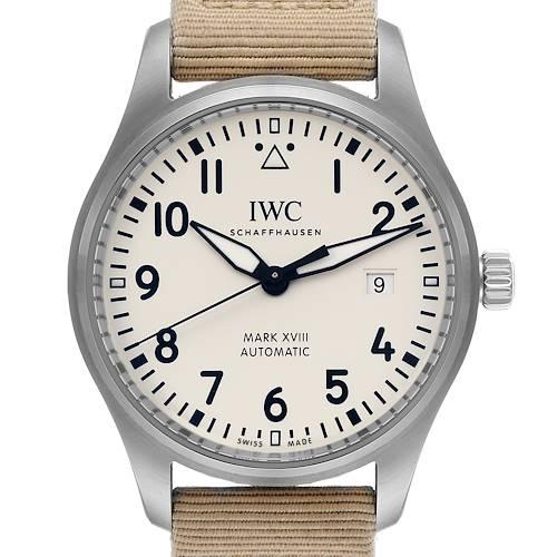 Photo of IWC Pilot Mark XVIII 40mm Silver Dial Steel Mens Watch IW327017 Box Card