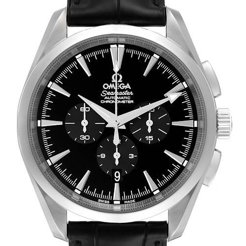 Photo of Omega Aqua Terra Black Dial Chronograph Steel Mens Watch 2812.50.31 Unworn