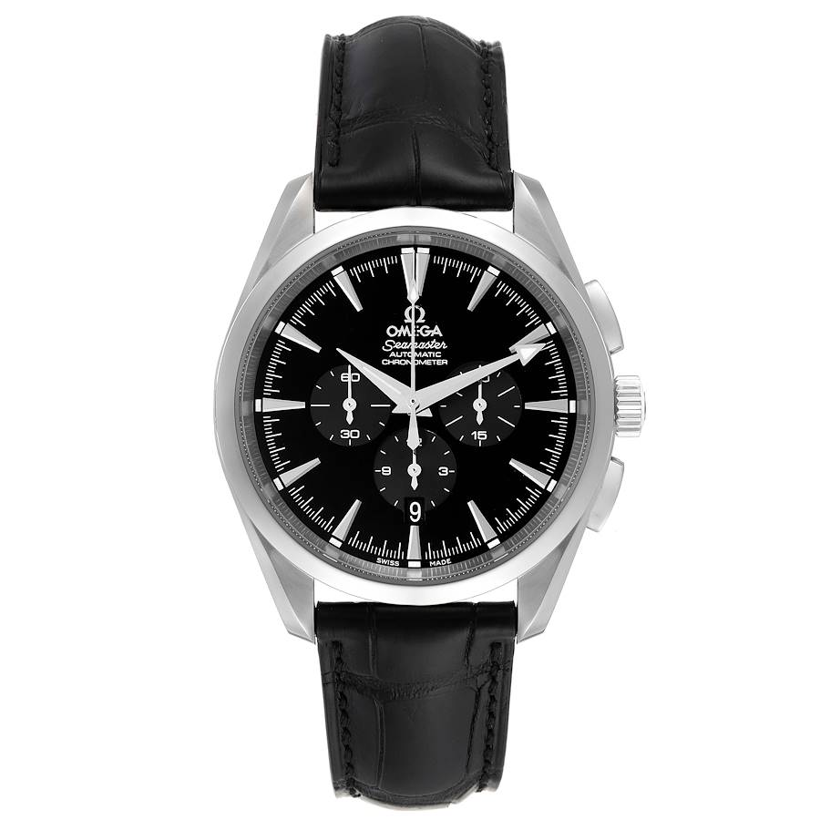 Omega Aqua Terra Black Dial Chronograph Steel Mens Watch 2812.50.31 Unworn SwissWatchExpo