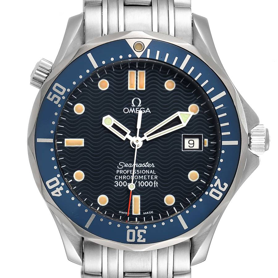 Omega Seamaster 300M Blue Dial Steel Mens Watch 2531.80.00 Box Card SwissWatchExpo