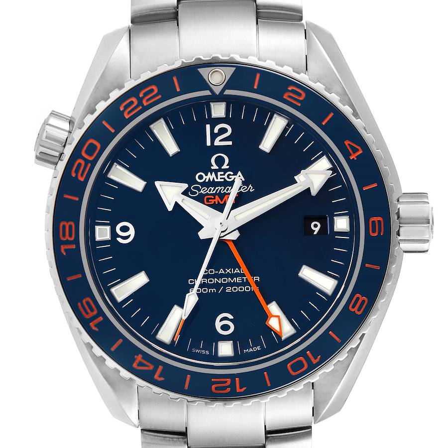 Omega Seamaster Planet Ocean GMT Mens Watch 232.30.44.22.03.001 Box Card SwissWatchExpo