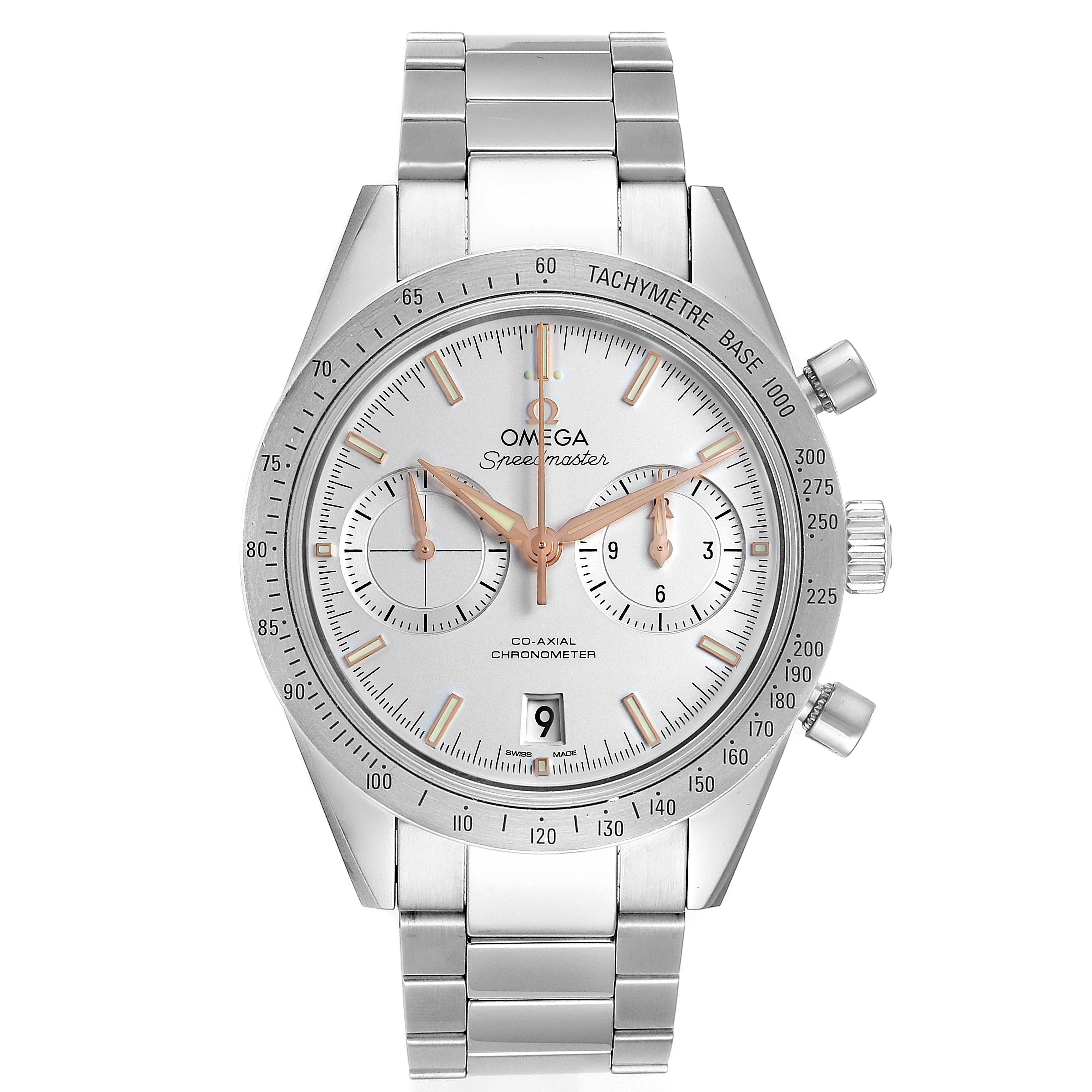 Omega Speedmaster '57 Chronograph Watch 331.10.42.51.02.002 Card SwissWatchExpo