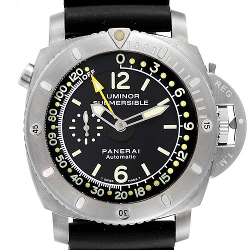 Photo of Panerai Luminor 1950 Submersible Depth Gauge Titanium Watch PAM00193 Box Card