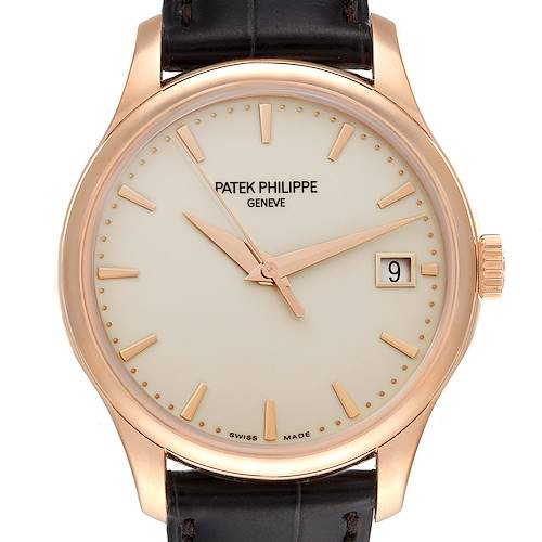 Photo of Patek Philippe Calatrava Hunter Case 18k Rose Gold Mens Watch 5227