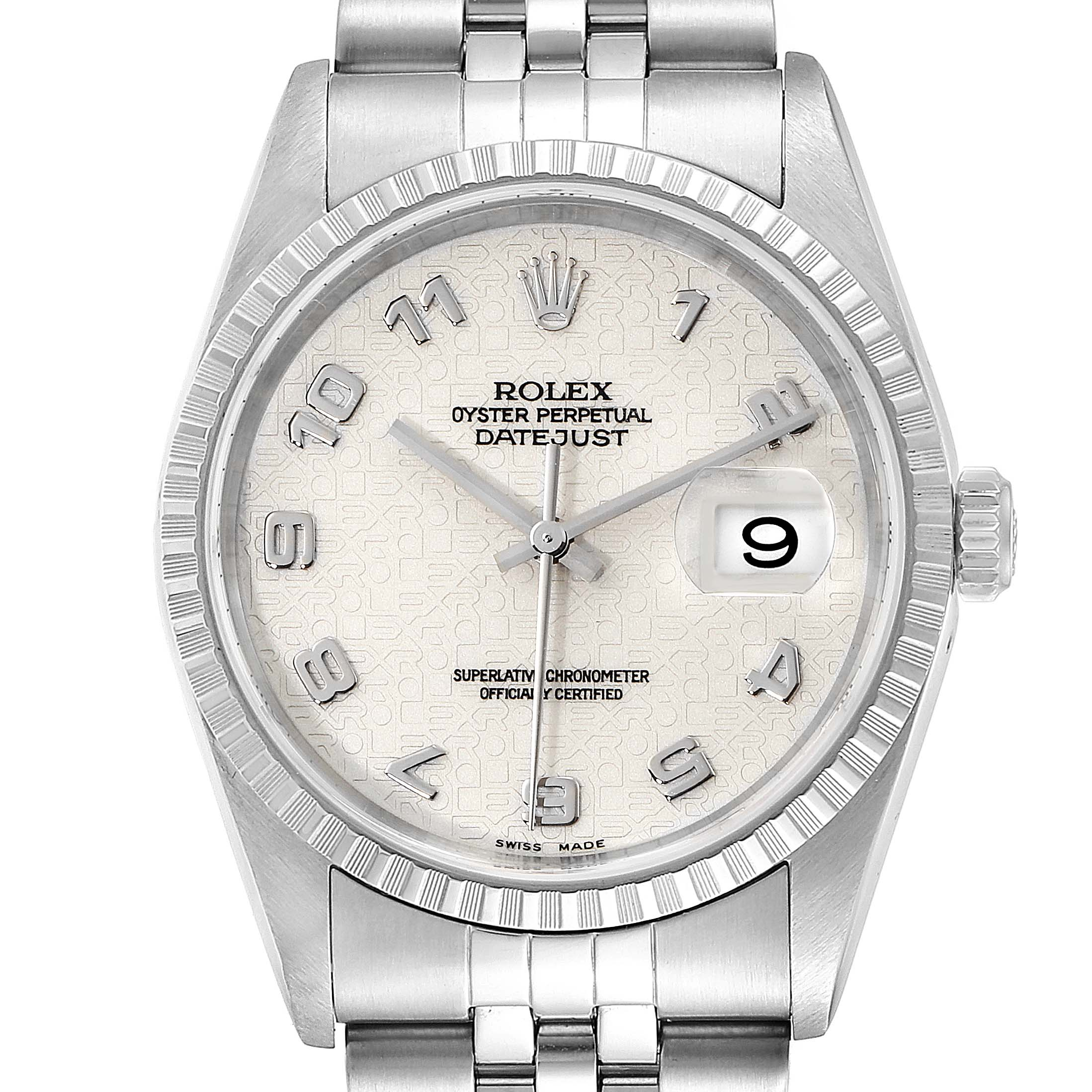 Photo of Rolex Datejust Anniversary Dial Jubilee Bracelet Steel Mens Watch 16220