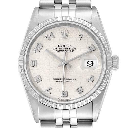 Photo of Rolex Datejust Anniversary Dial Jubilee Bracelet Steel Mens Watch 16220