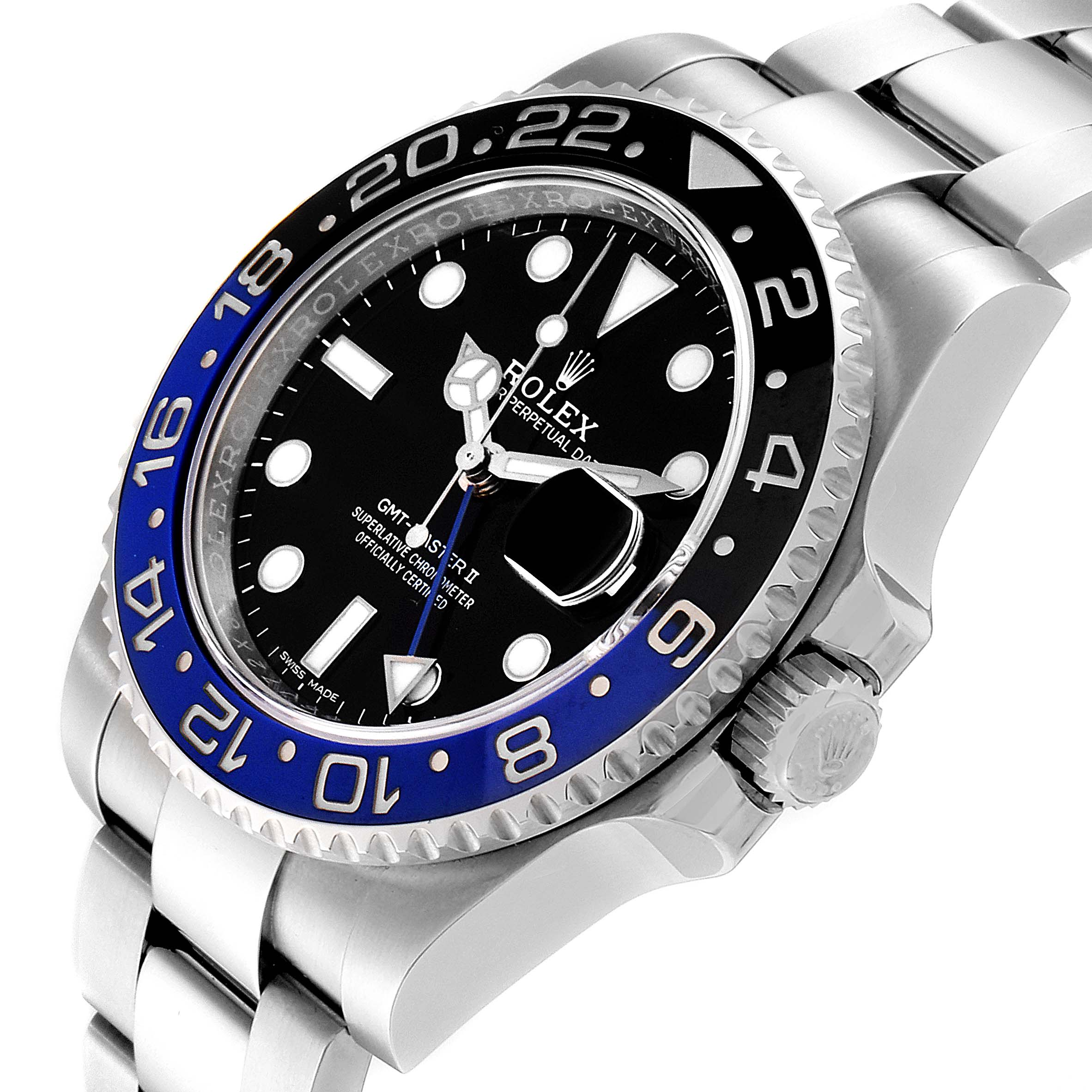 Rolex GMT Master II Black Blue Batman Steel Mens Watch 116710 Box Card SwissWatchExpo