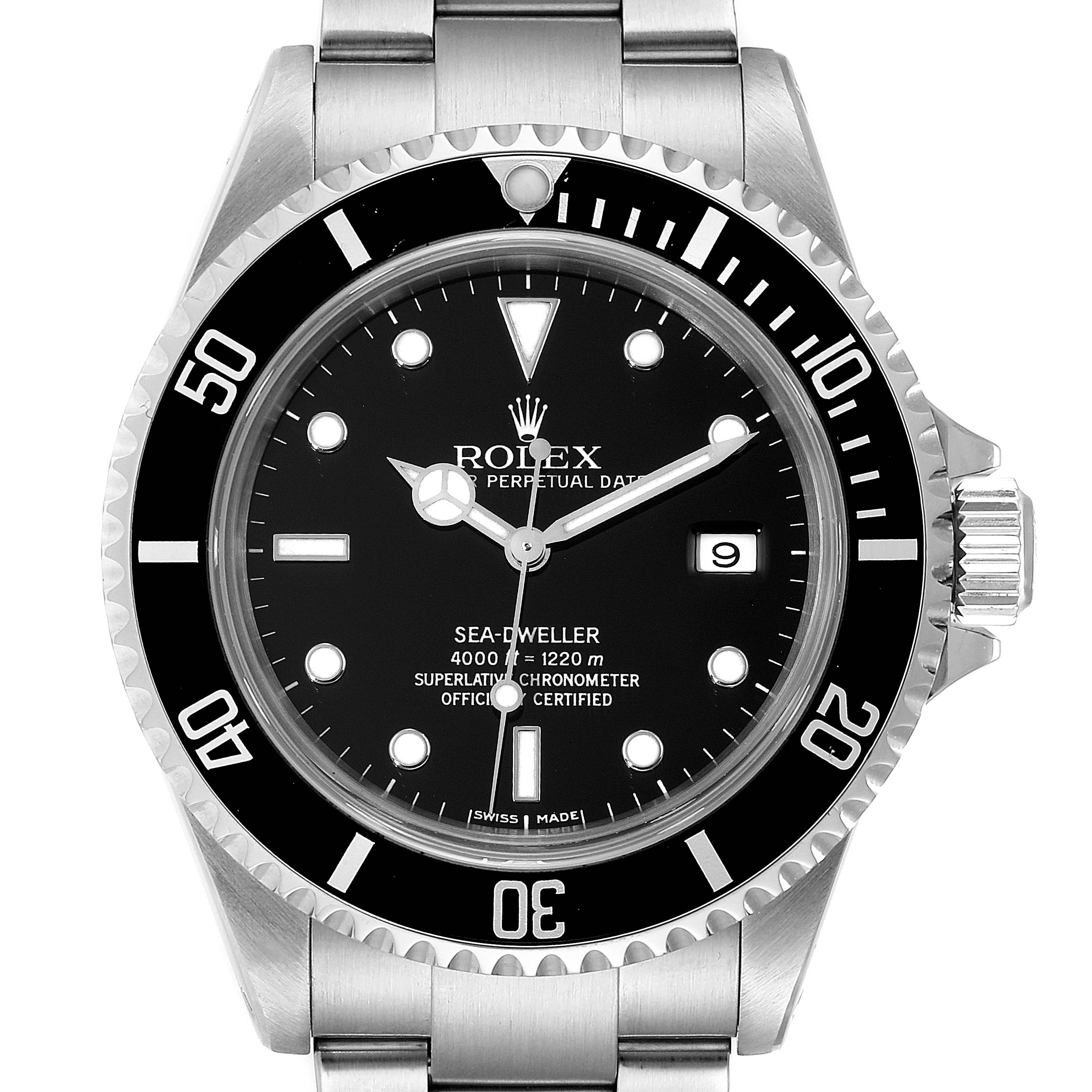 Photo of Rolex Seadweller Black Dial Automatic Steel Mens Watch 16600