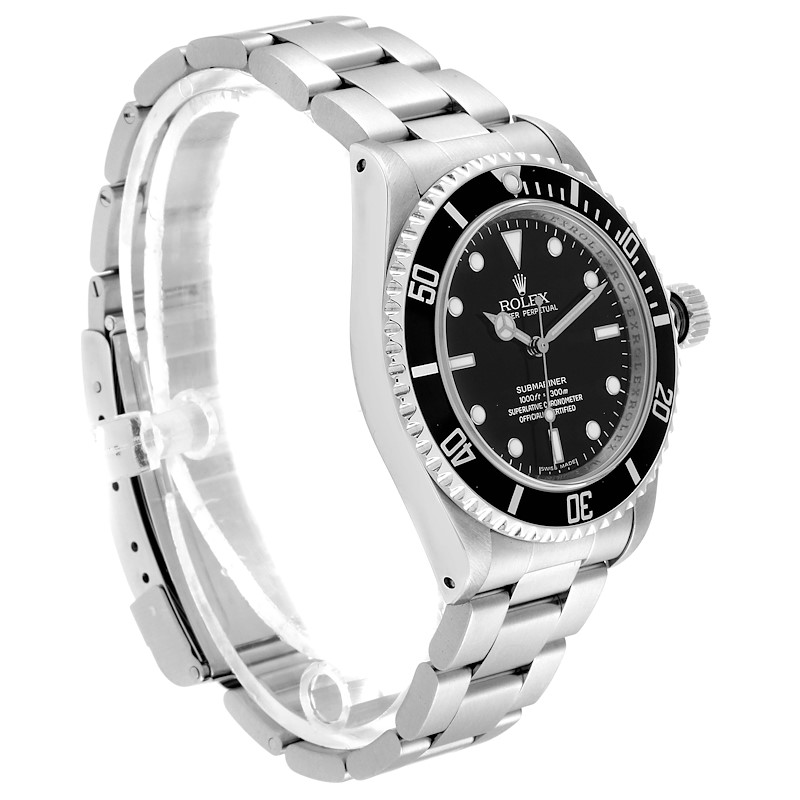 Rolex Submariner 40mm Non-Date 4 Liner Steel Steel Mens Watch 14060 SwissWatchExpo